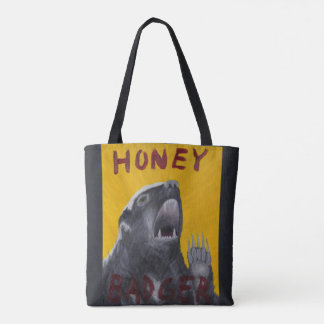 Honey Badger Motivational Painting Tote