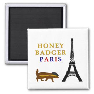 Honey Badger Paris Magnet