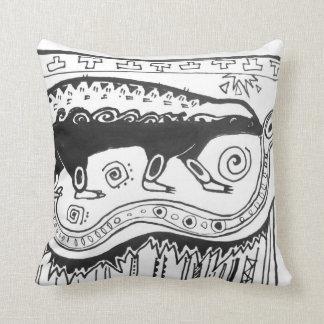 Honey Badger Pillow Aztec