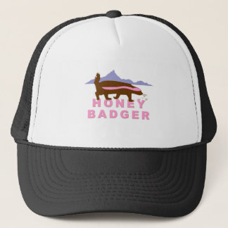 honey badger pink trucker hat