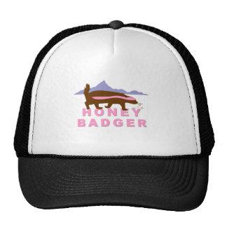 honey badger pink trucker hat
