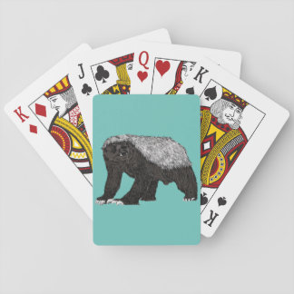 Honey badger playing cards 'Don't call me honey'