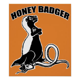 Honey badger poster
