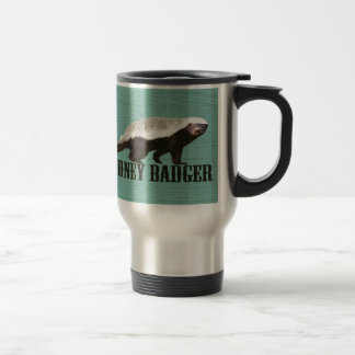 Honey Badger Profile View Travel Mug
