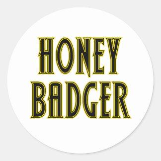 Honey Badger Round Sticker