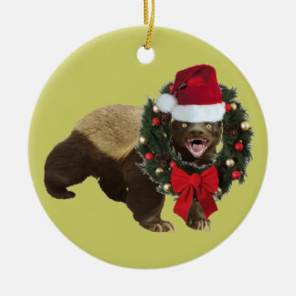 Honey badger ornaments for Badger christmas decoration