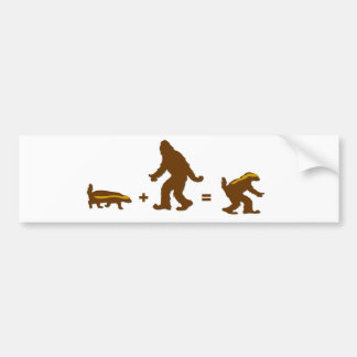 Honey Badger Sasquatch Hybrid Bumper Sticker