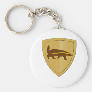 Honey Badger Shield & Crest Keychain