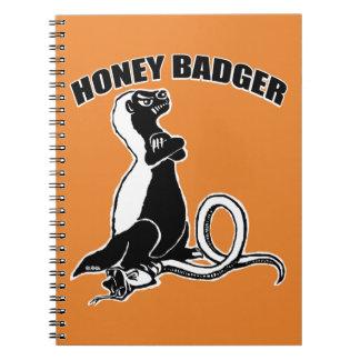Honey badger spiral notebook