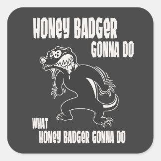 Honey Badger Square Sticker