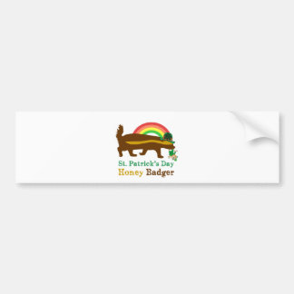 honey badger st. patrick's day bumper sticker