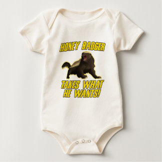 Honey Badger Takes What He Wants Baby Bodysuit
