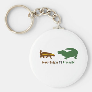 Honey Badger VS Crocodile Keychain