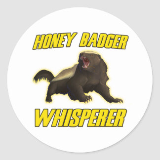 Honey Badger Whisperer Classic Round Sticker