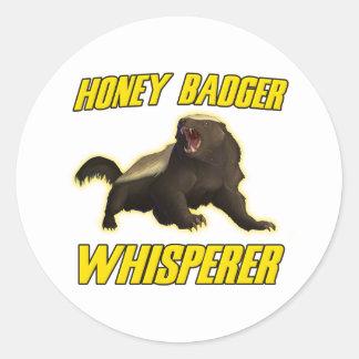 Honey Badger Whisperer Round Sticker