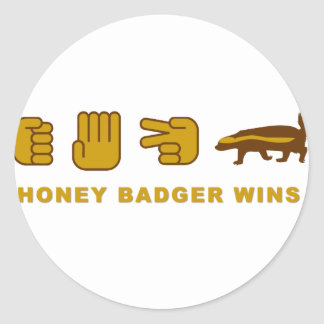 honey badger wins round sticker