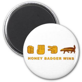 Honey Badger Wins - (Vintage) Rock Paper Scissor Magnet