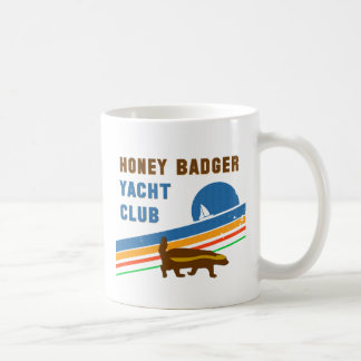 honey badger yacht club coffee mug