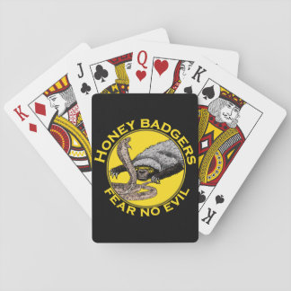 Honey Badgers 'fear no evil' Playing Cards