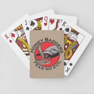 Honey Badgers 'fear no evil' Poker Deck