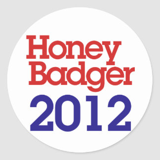 Honey Badget 2012 Classic Round Sticker