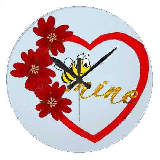 honey be-mine cute beautiful clock design