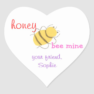 Honey be mine personalized valentine sticker