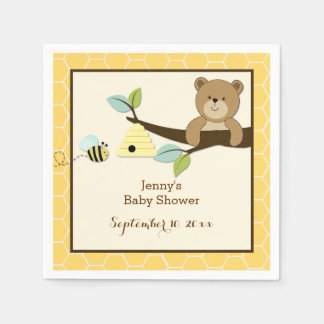 Honey Bear and Bee Customized Napkins Disposable Napkin