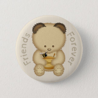 Honey Bear and Bee Friends Forever 2 Inch Round Button