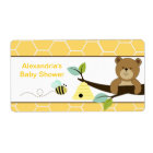Honey Bear and Bee Large Water Bottle Sticker