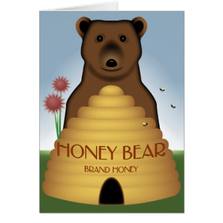 Honey Bear Card