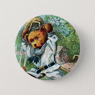Honey Bear Harry - Letter H - Vintage Teddy Bear 2 Inch Round Button