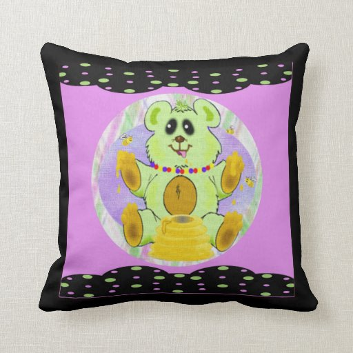 Honey Bear Throw Pillows