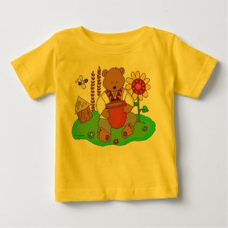Honey Bear Ukrainian Folk Art Baby T-Shirt