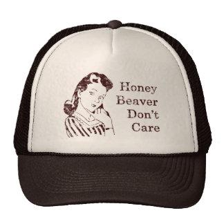 Honey Beaver Don't Care Hat