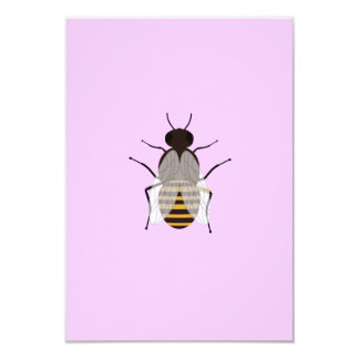 """Honey bee 3.5"""" x 5"""" invitation card"""