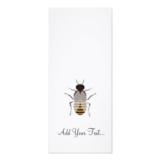 "Honey bee 4"" x 9.25"" invitation card"