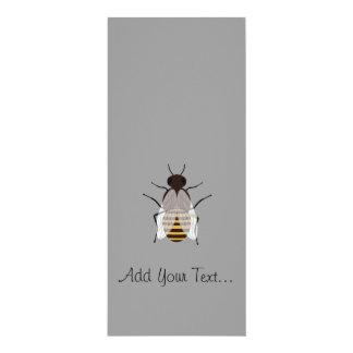 """Honey bee 4"""" x 9.25"""" invitation card"""