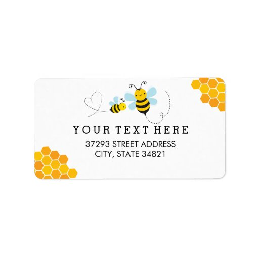Honey Bee Address Label