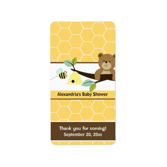 Honey Bee and Bear Miniature Candy Wrappers