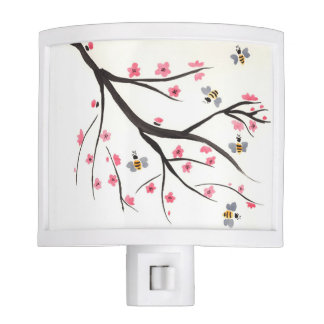 Honey Bee and Cherry Blossom Night Light