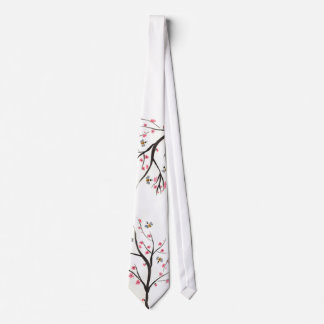 Honey Bee And Cherry Blossom Tie