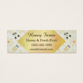 Honey Bee and Flower Mini Business Card