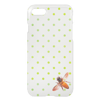Honey Bee and green  polka-dots iPhone 8/7 Case