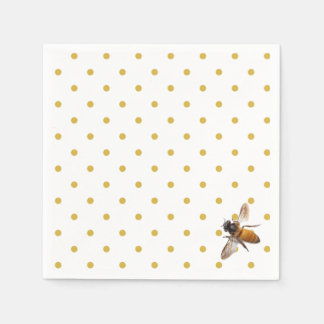 Honey Bee and polka-dots Paper Napkin