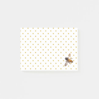 Honey-bee and polka-dots post-it notes