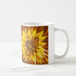 Honey bee and yellow flower coffee mug