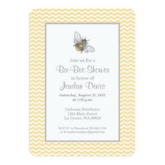 "Honey Bee Baby Shower 5"" X 7"" Invitation Card"
