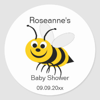 Honey Bee Baby Shower Sticker