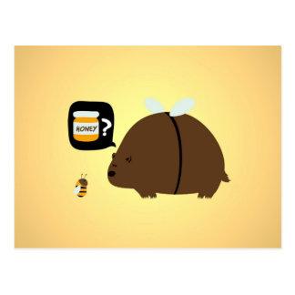 Honey Bee Bear Postcard